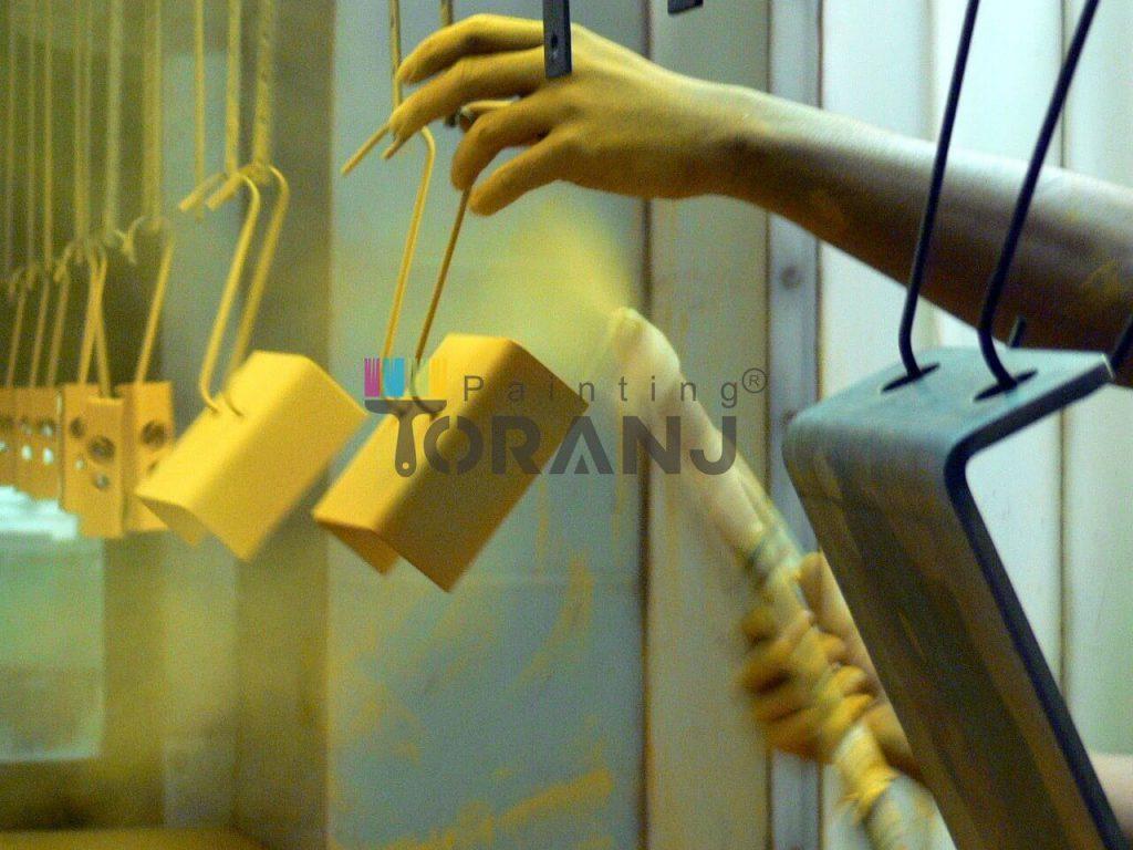 پخش رنگ طلایی پودری الکترواستاتیک