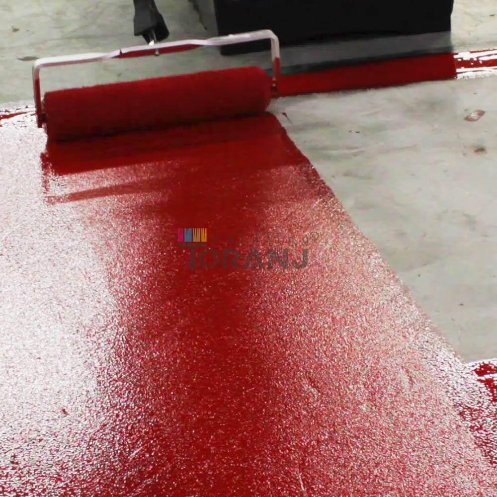 شماتیکی از کف سالن حاوی پوشش رنگ اپوکسی پلی آمید براق