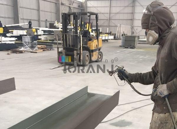 شماتیکی از تجهیزات صنعتی حاوی پوشش پرایمر زینک ریچ اپوکسی 70 درصد