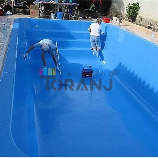 رنگ آبی اکریلیک استخری