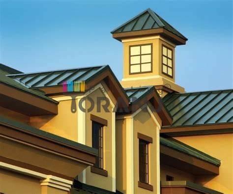 شماتیکی از کاربرد رنگ جدید نمای ساختمان